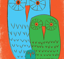 Owls_3_Morning_6.5x9_giclee