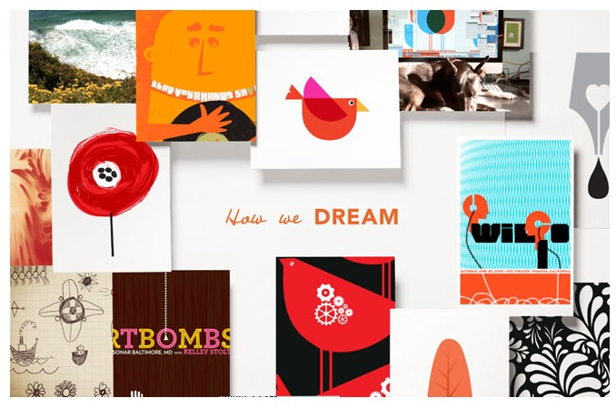 "Detail of Domtar & Cougar Paper's new campaign ""Dream"" featuring strawberryluna!"