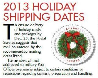 USPS 2013 Holiday Shipping Cutoff Dates Guidelines | strawberryluna